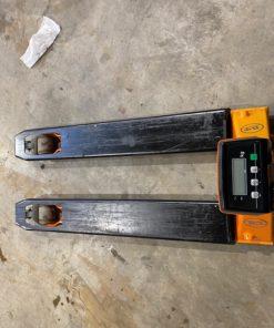 Transpalette manuel avec balance intégrée